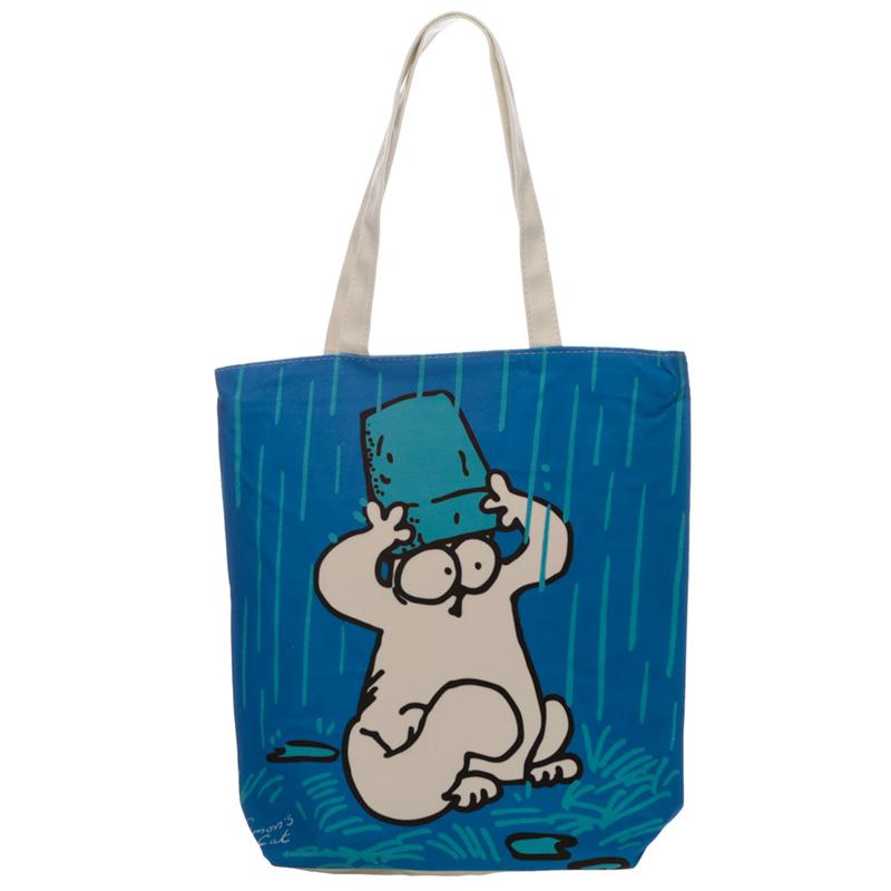 Blue Simon's Cat Cotton Bag