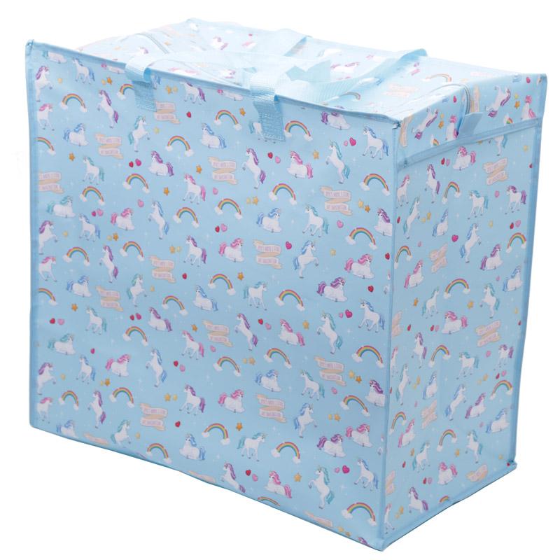 Rainbow Unicorn Laundry Storage Bag