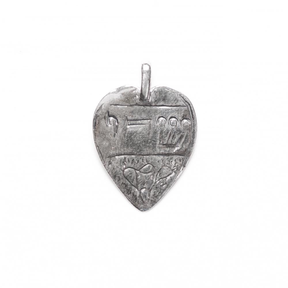 """Shaddai"" Heart-Shaped Amulet-Pendant"